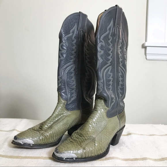 1b1c50d750f Justin snakeskin leather cowboy boots women's sz 6